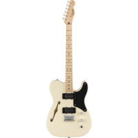 Squier Paranormal Cabronita Telecaster Thinline, Maple Fingerboard, Olympic White