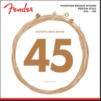 Fender Acoustic Bass String Set, Phosphor Bronze, 7060 .045-.100, Medium Scale