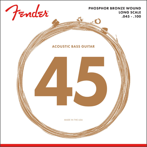 Fender Accessories Fender Acoustic Bass String Set, Phosphor Bronze, 8060 .045-.100, Long Scale