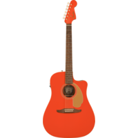 Fender FSR Redondo Player, Solid Sitka Spruce Top, Mahogany Back, Fiesta Red