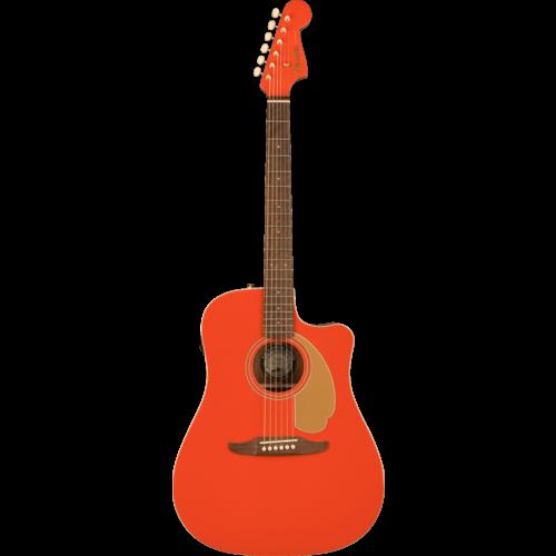 Fender Fender FSR Redondo Player, Solid Sitka Spruce Top, Mahogany Back, Fiesta Red