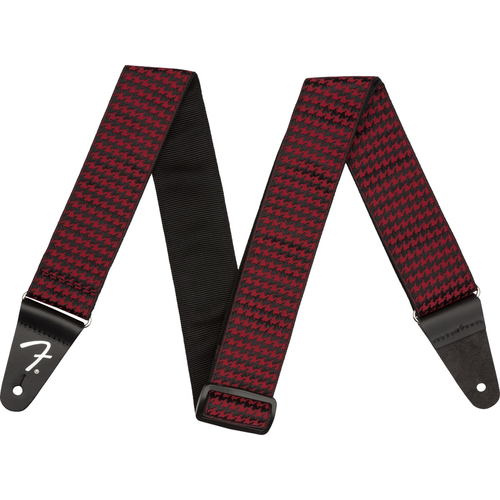 Fender Accessories Fender Houndstooth Jacquard Guitar Strap, Red