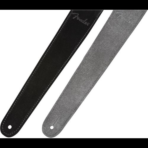 Fender Accessories Fender Reversible Suede Strap, Black/Gray