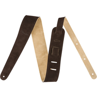Fender Reversible Suede Strap, Brown/Tan