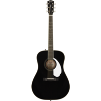 Fender FSR Paramount PM-1E Standard Dreadnought, All Solid Spruce/Mahogany w/ Hard Case, Black