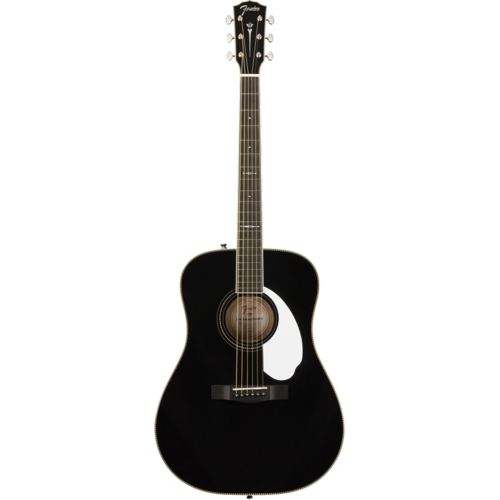 Fender Fender FSR Paramount PM-1E Standard Dreadnought, All Solid Spruce/Mahogany w/ Hard Case, Black