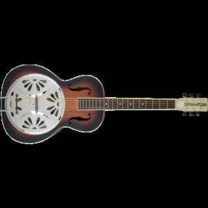 G9220 Bobtail™ Round-Neck A.E., Mahogany Body Spider Cone Resonator Guitar, Fishman® Nashville Resonator Pickup, 2-Colour Sunburst