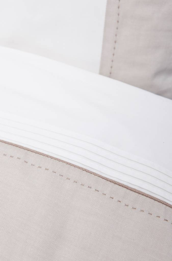 Duvet Cover (100x140) & Pillow case Oxford Taupe-3