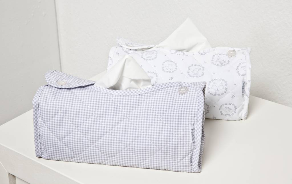 Tissue box hoes Oxford Grey-2
