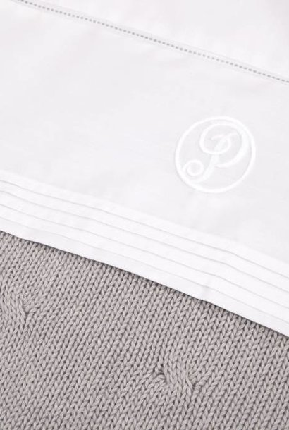 Cot/ baby bed sheet White
