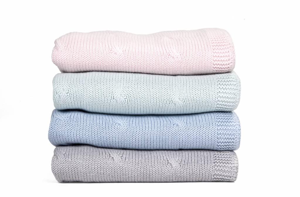Ledikant deken gevoerd 100x135cm Grey-3