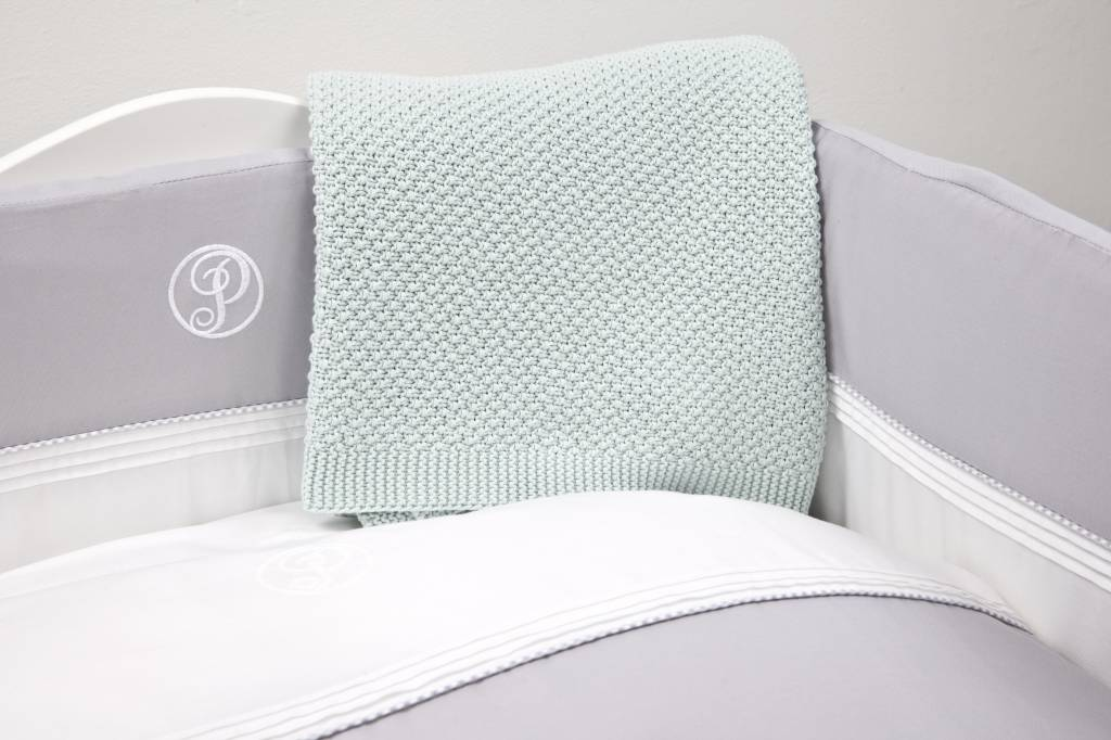 Couverture bébé berceau coton Mint-2