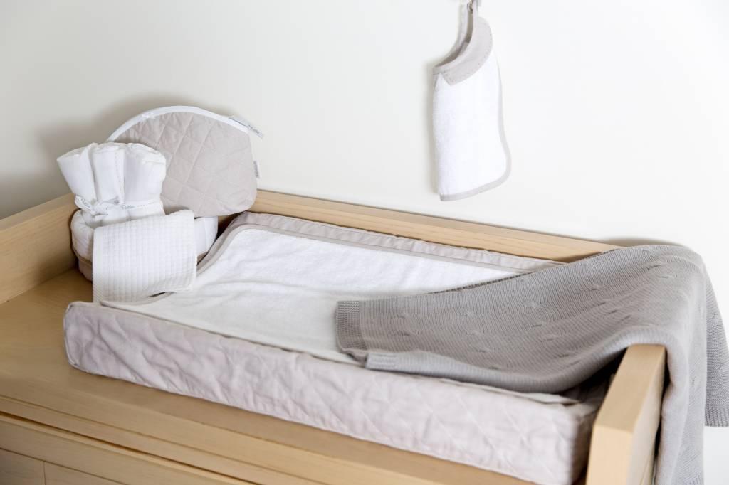 Crib Blanket cotton/wool Grey-3