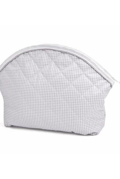 Toiletry bag Oxford Grey check