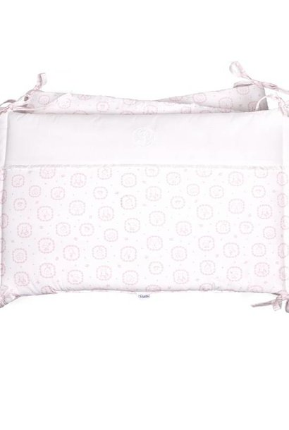 Cot Bumper Little Forest Pink