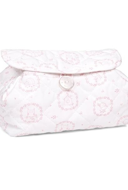 Baby wipes cover Litte Forest Pink