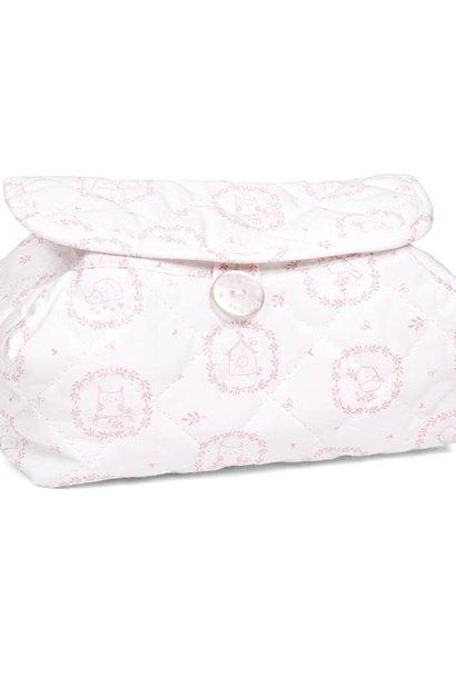 Housse de lingettes pour bébé Litte Forest Pink