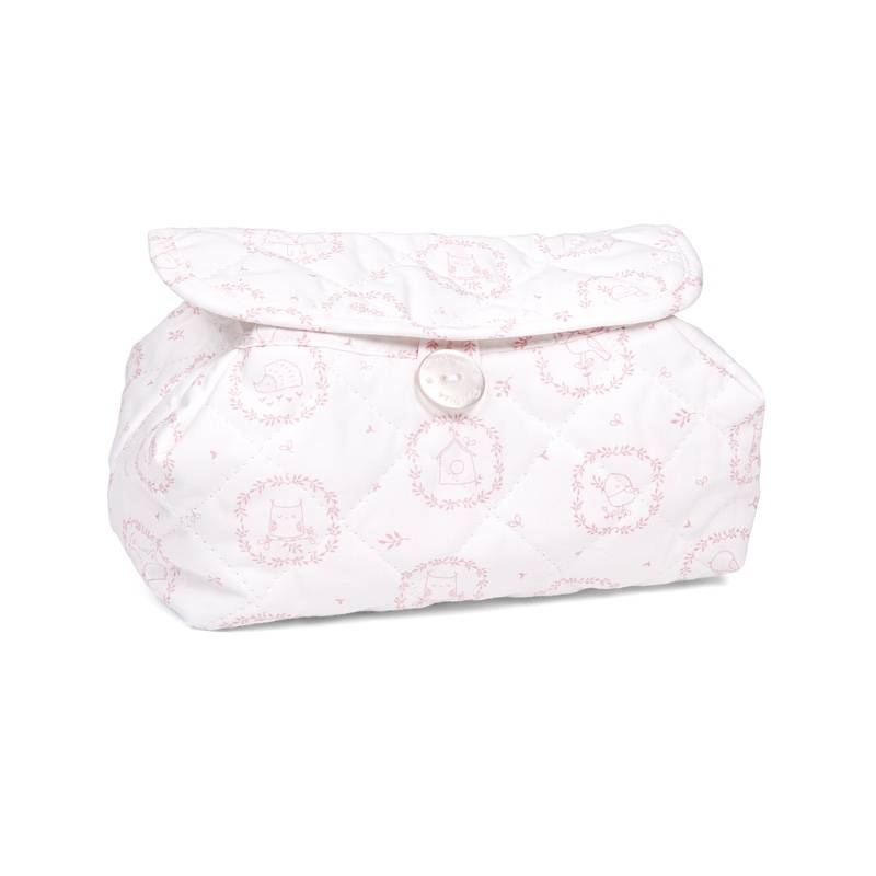 Baby wipes cover Little Forest Pink-1