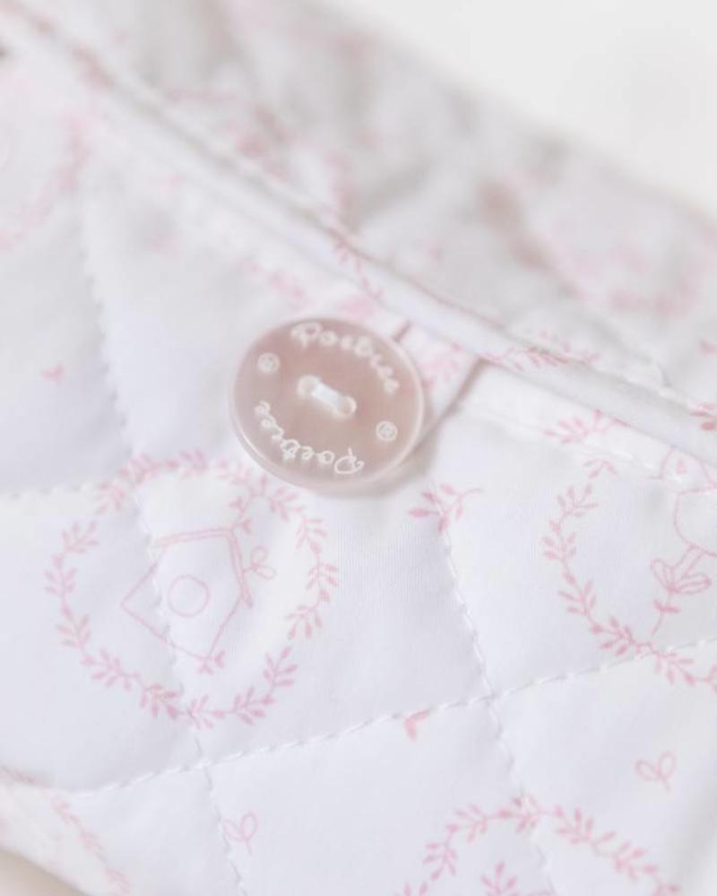 Baby wipes cover Little Forest Pink