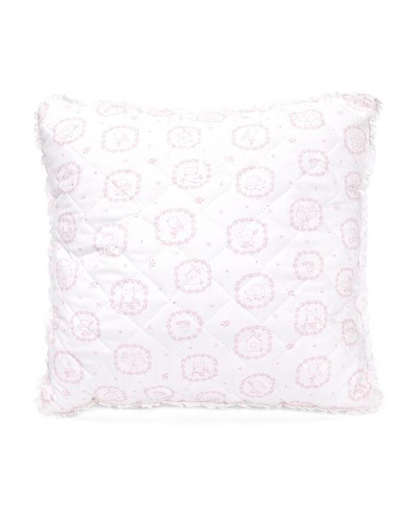 Decoratie kussen Little Forest Pink