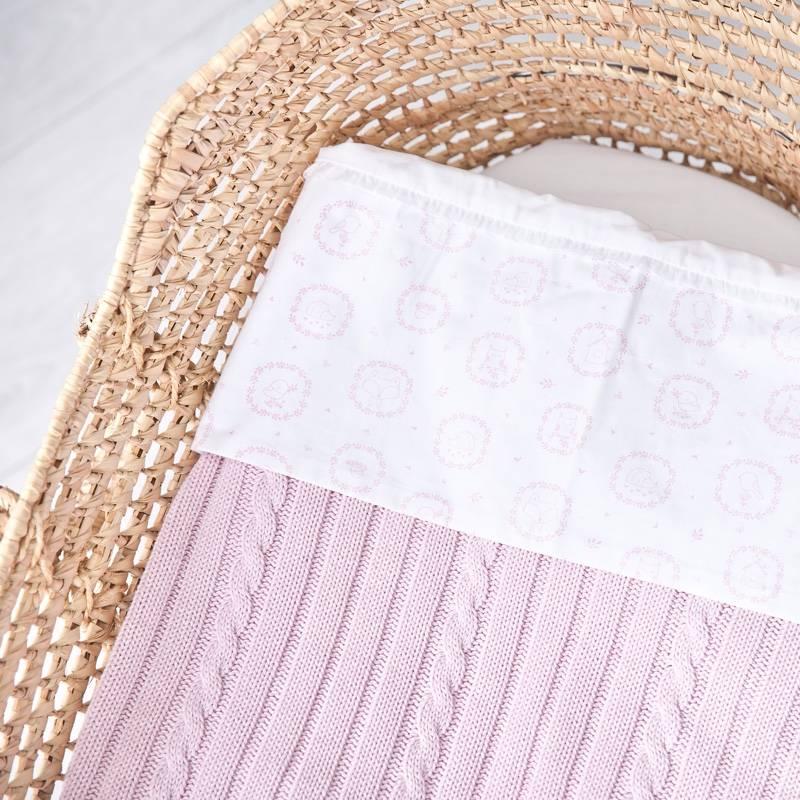 Wieg laken Little Forest Pink-2