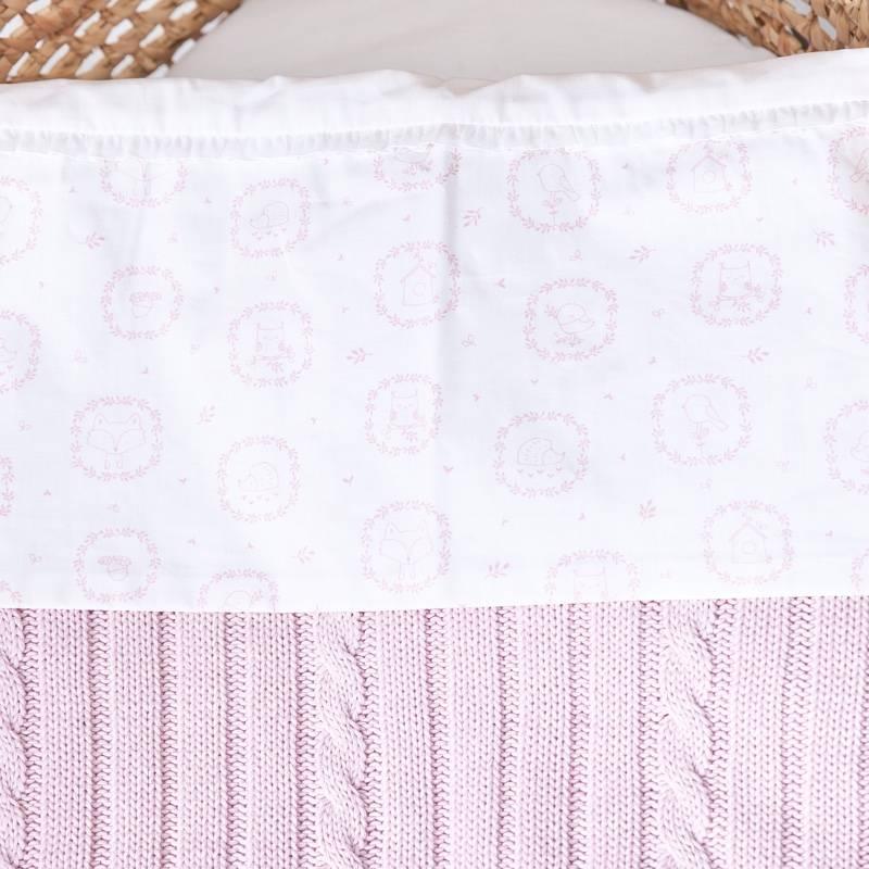 Drap de lit bébé Little Forest Pink-2