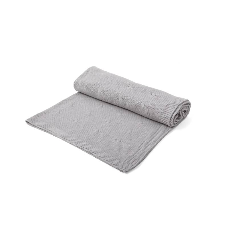 Crib Blanket cotton/wool Grey-1