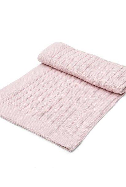 Couverture bébé berceau coton / laine Rose