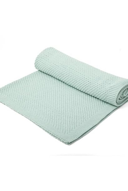 Knitted Crib Blanket Mint