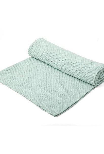 Knitted Crib Blanket Mint