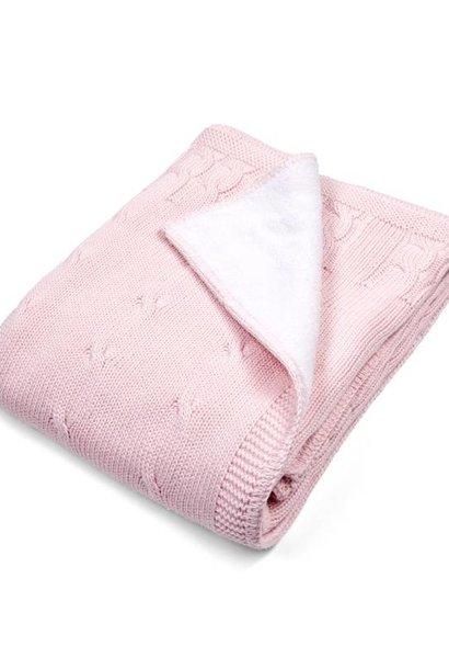 Cot blanket lined Soft Pink