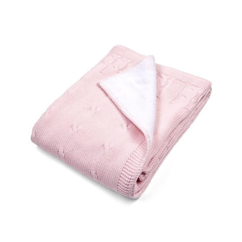 Ledikant deken gevoerd Chamonix Pink-1