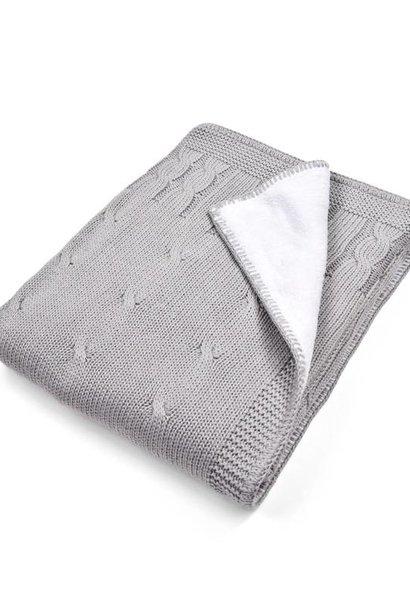 Ledikant deken gevoerd Grey