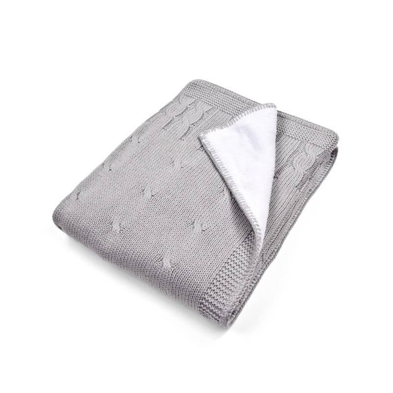 Ledikant deken gevoerd 100x135cm Grey-1