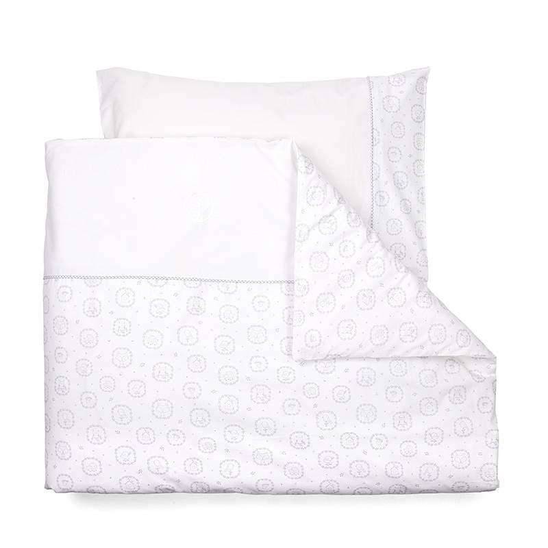 Duvet Cover (100x140cm) & Pillow case Little Forest Grey-1