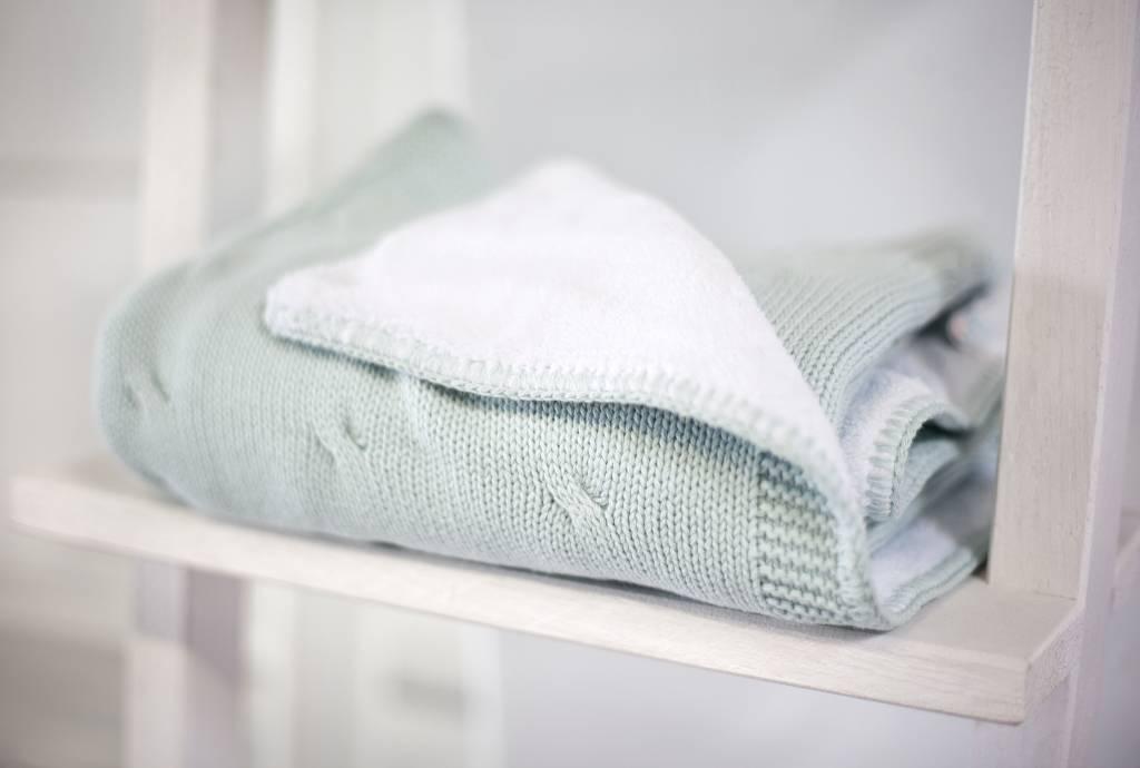 Couverture lit de bébé teddy Mint-3