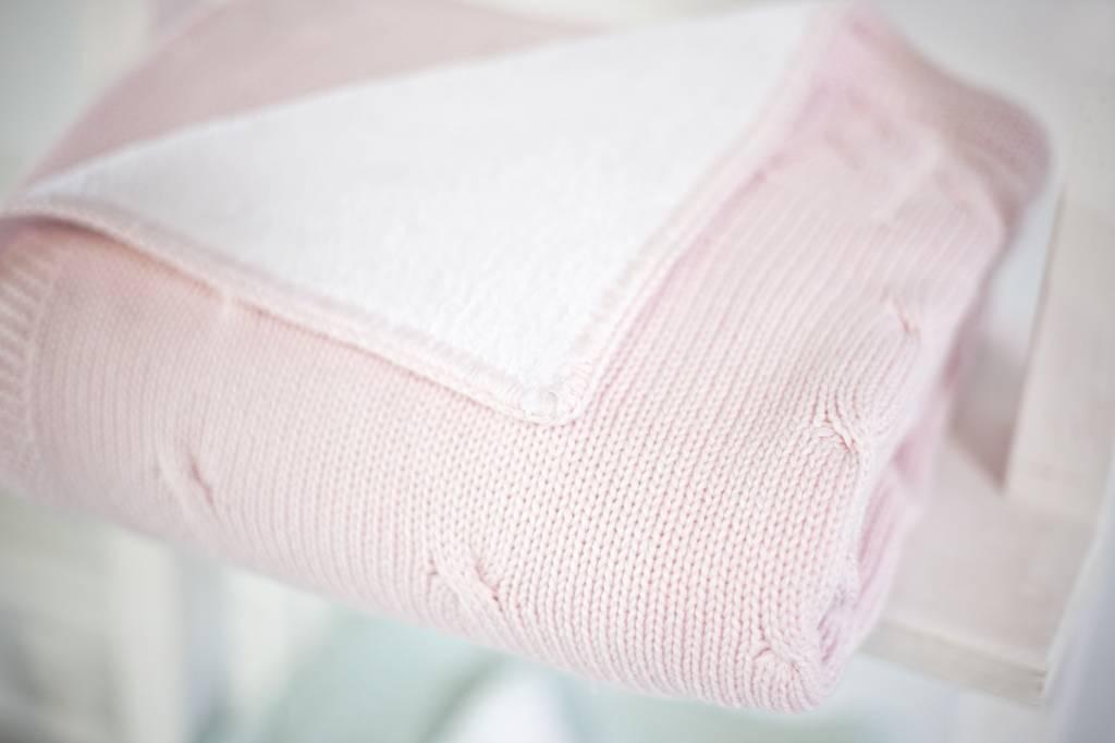 Ledikant deken gevoerd Chamonix Pink-4