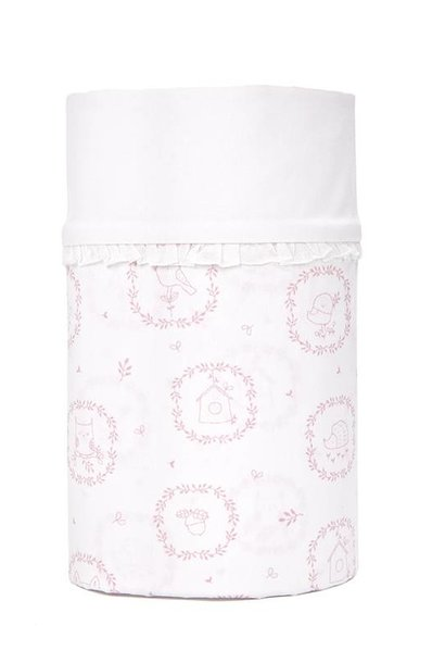 Cot/ baby bed sheet Little Forest Pink
