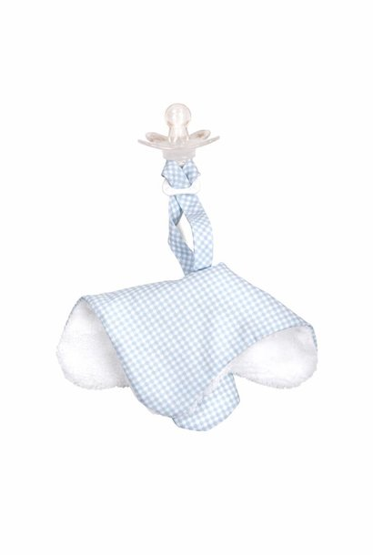 Pacifier cloth Oxford Blue