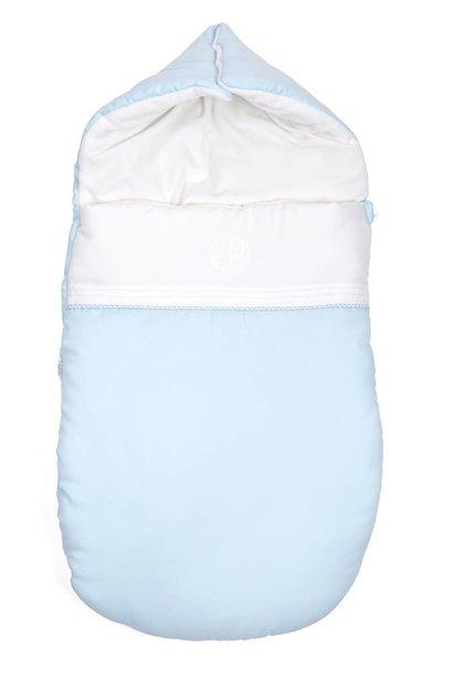 Baby footmuff Oxford Blue
