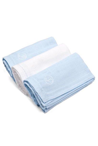 Linges en coton  Light Blue & White