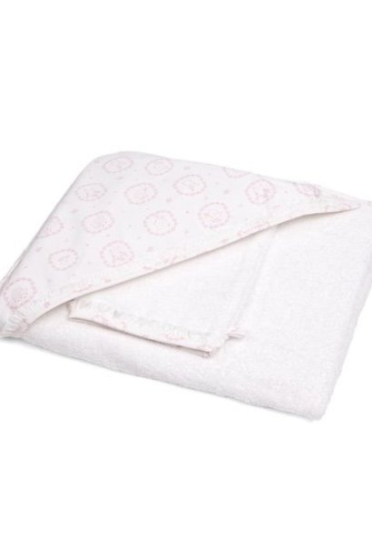 Hooded towel & washcloth Little Forest Pink