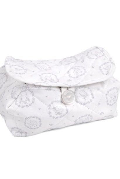 Housse de lingettes pour bébé Litte Forest Grey