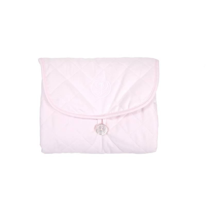 Verschoonmatje voor onderweg  Oxford Soft Pink-2