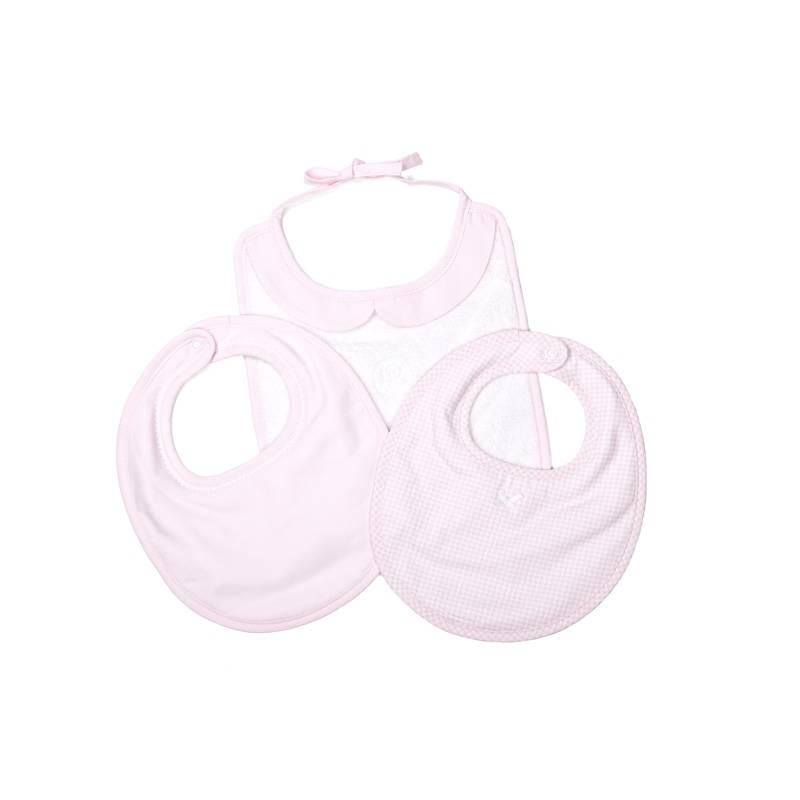 Slabbetjes Oxford Soft Pink (3 stuks)-1