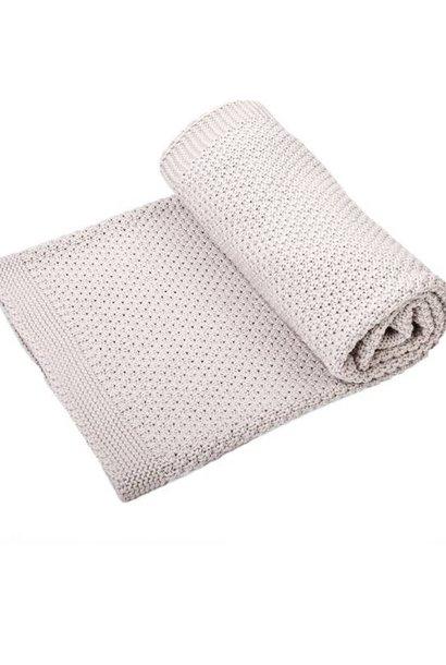 Cotton Cot Blanket Wood grey