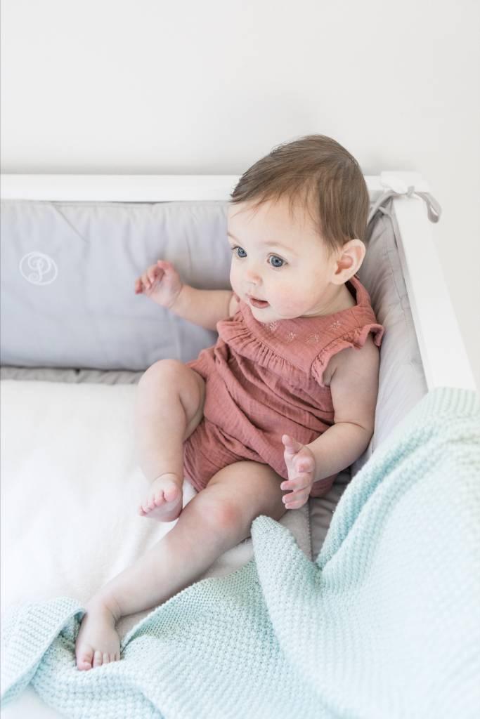 Couverture lit bébé coton Mint-2