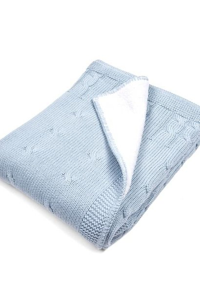 Cot blanket lined Light Blue