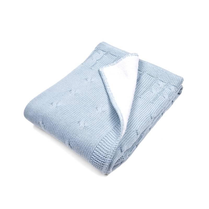 Couverture lit de bébé teddy Bleu Clair-1