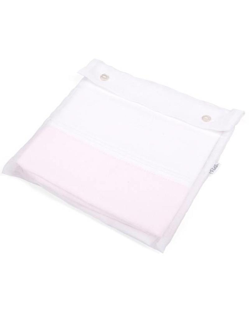 Crib/playpen duvet and pillow case Oxford Soft Pink